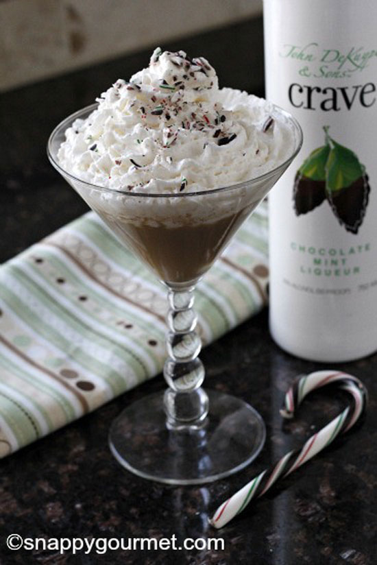 Chocolate Mint Russian Caketini | Snappy Gourmet