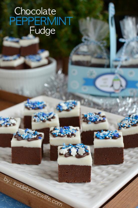Chocolate Peppermint Fudge | Inside BruCrew Life