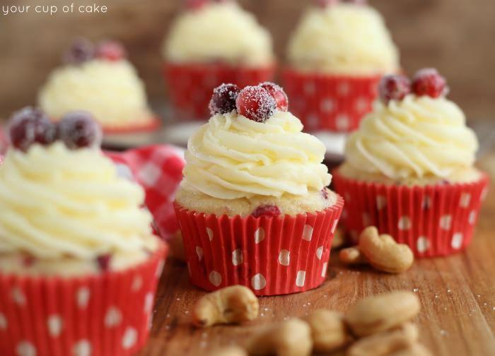 Cranberry Cashew Cupcakes