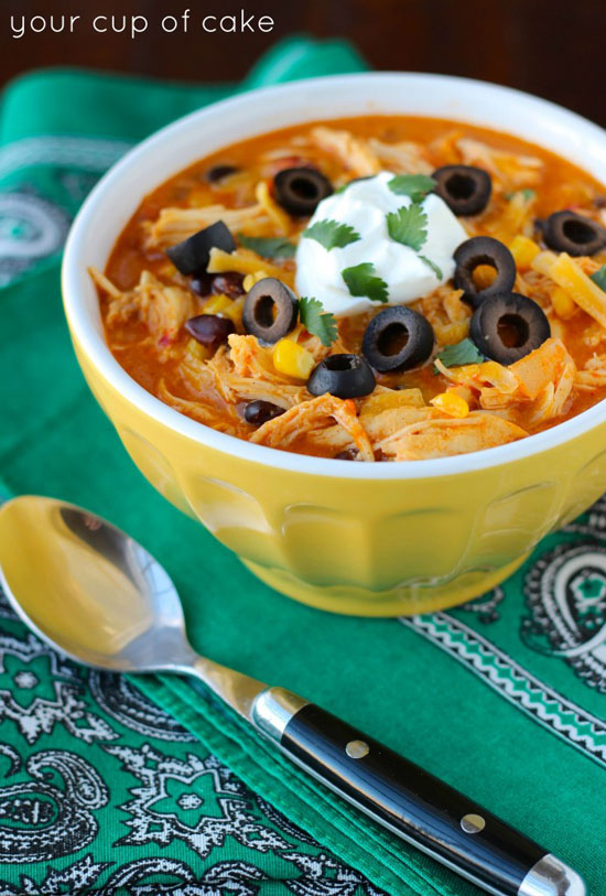 Chicken Enchilada Soup | Your Cup of Cake