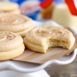 Soft Eggnog Sugar Cookies