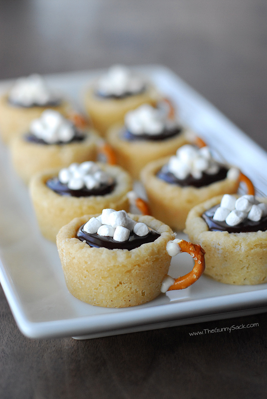 Hot Chocolate Cookie Cups | The Gunny Sack