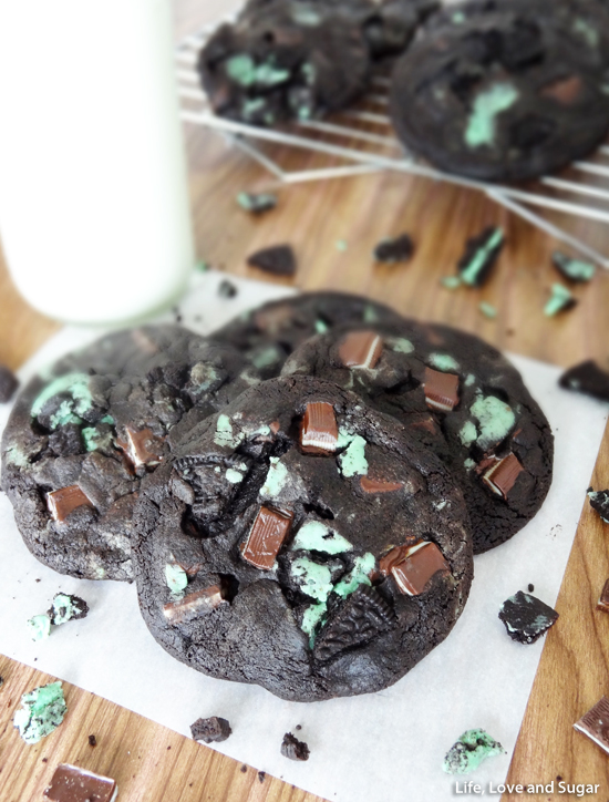 Double Mint Chocolate Cookies | Life Love and Sugar