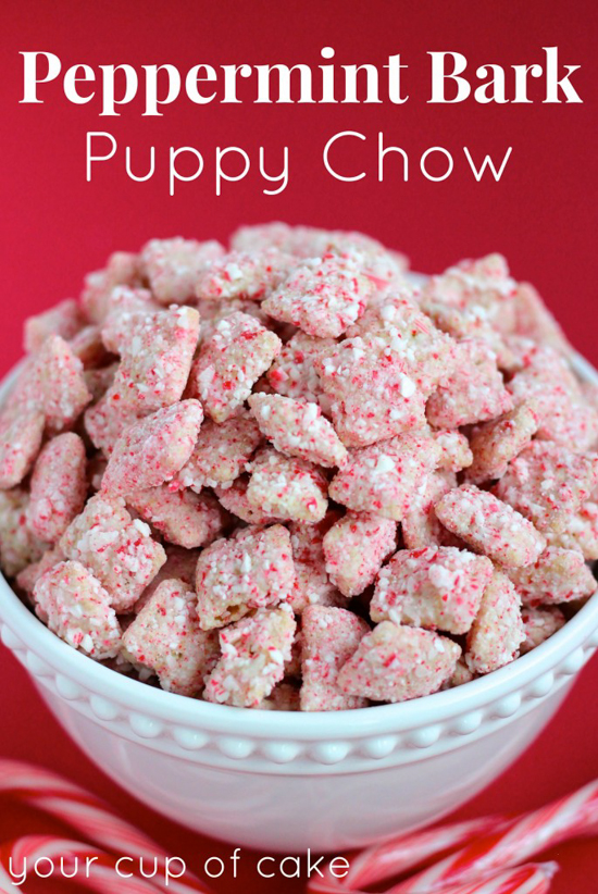 Peppermint Bark Puppy Chow | Your Cup of Cake