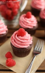 Raspberry Hot Chocolate Cupcake