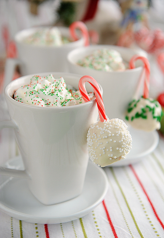 Peppermint Rice Krispies Snowballs | A Spice Perspective