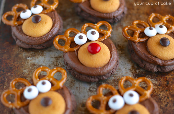 Rudolph Cookies | Christmas Cookie Recipes For A Sweeter Holiday | Homemade Recipes