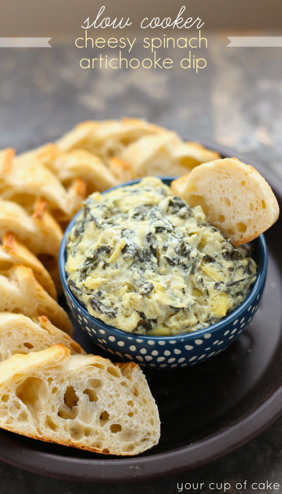 Cheesy Spinach Artichoke Dip | Your Cup of Cake