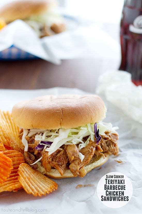 Teriyaki Barbecue Chicken Sandwiches | Taste and Tell