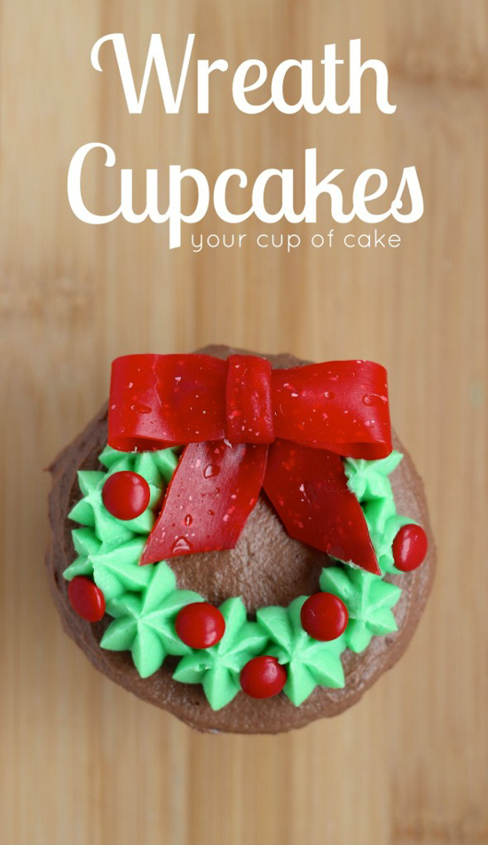 Wreath Cupcakes | Your Cup of Cake