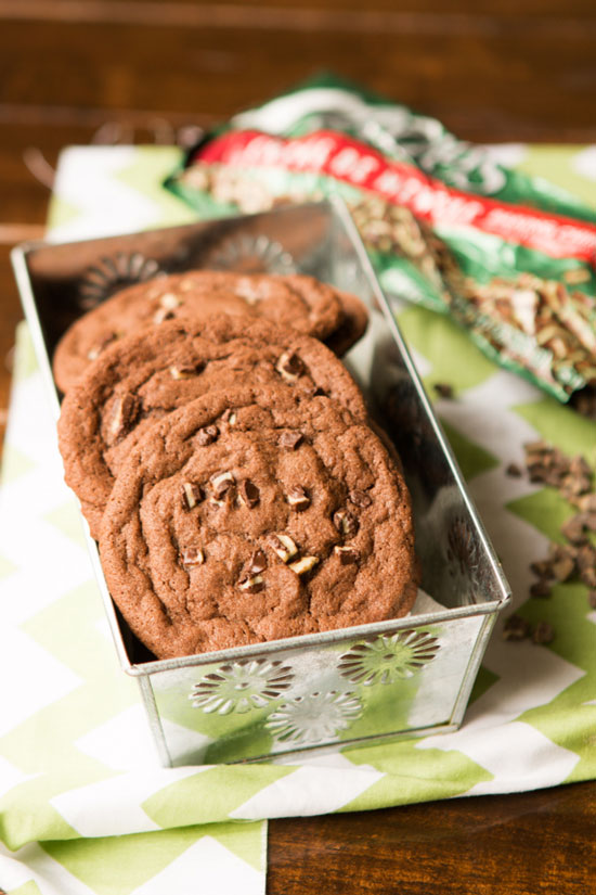 Chocolate Andes Mint Cookies | Oh Sweet Basil