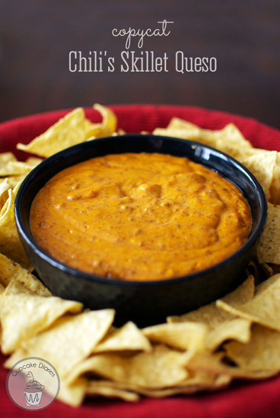 Copycat Chili's Skillet Queso | Cupcake Diaries
