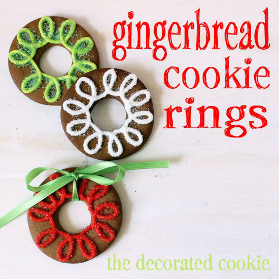Gingerbread Cookie Rings | In Katrina's Kitchen
