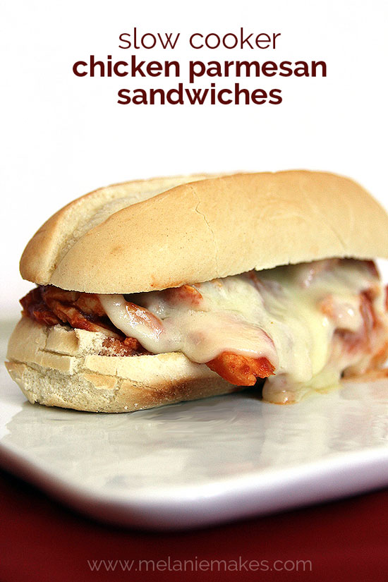 Chicken Parmesan Sandwiches | Melanie Makes