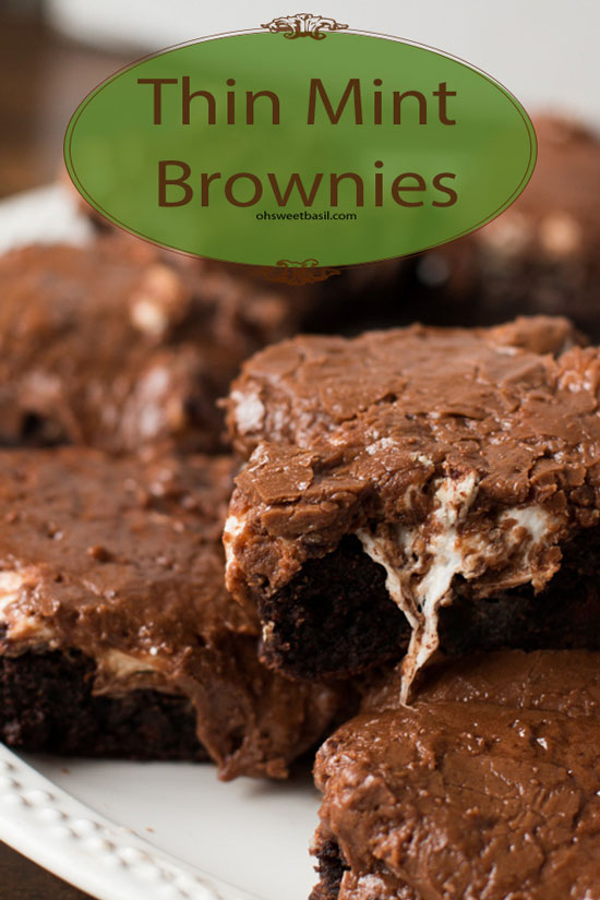 Thin Mint Mississippi Mud Brownies | Oh Sweet Basil
