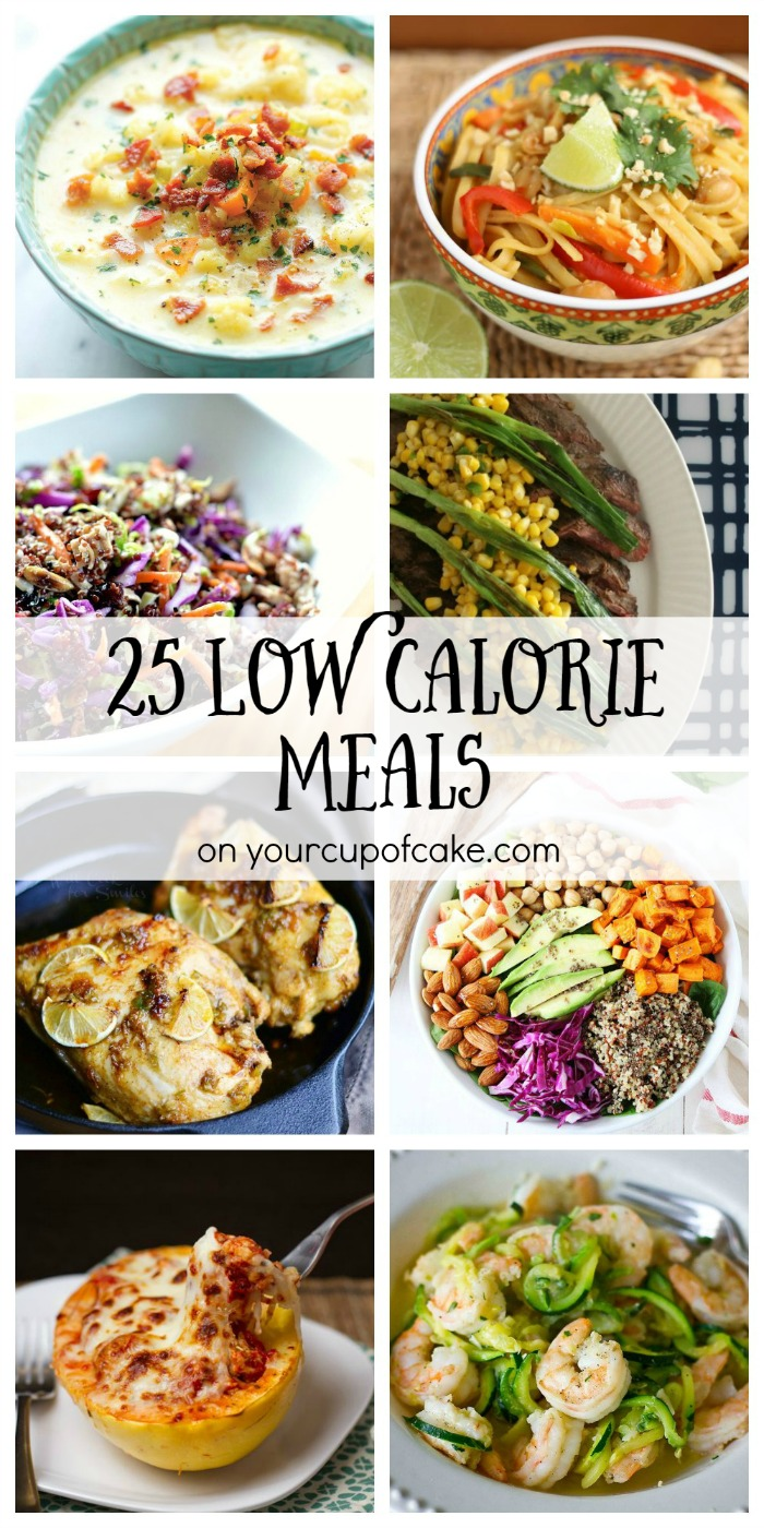 25 Low Calorie Meals on Your Cup of Cake