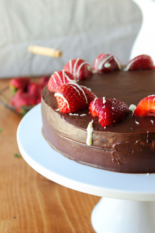 Strawberry Truffle Cake | The Food Charlatan