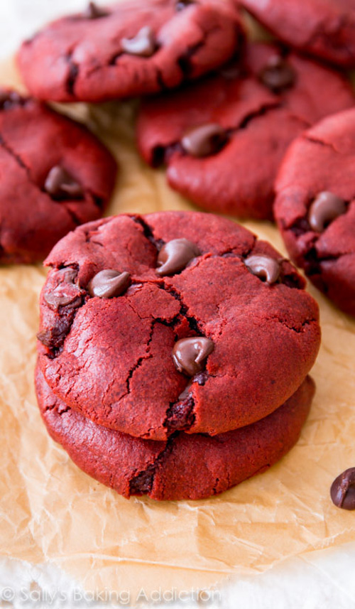 Red Velvet Chocolate Chip Cookies | Sally's Baking Addiction