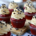 Red Velvet Cookie Dough Cupcakes