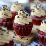 Red Velvet Cookie Dough Cupcakes
