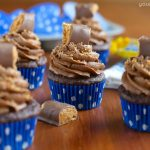 Double Chocolate Butterfinger Cupcakes
