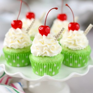These Shamrock Shake Cupcakes are almost too cute to eat!