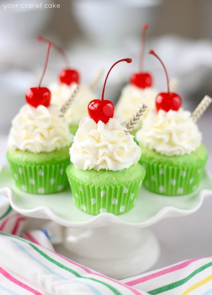 Shamrock Shake Cupcake Recipe