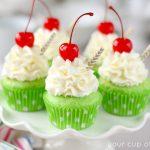 Shamrock Shake Cupcakes