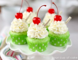 Shamrock Shake Cupcakes for St. Patrick's Day!
