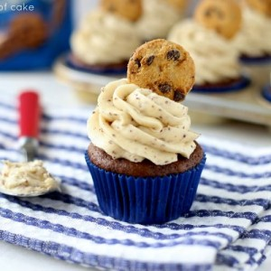 Chocolate Banana Cupcakes with amazing cookie dough frosting