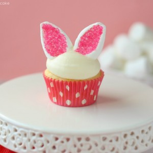 Easy Bunny Ear Cupcakes