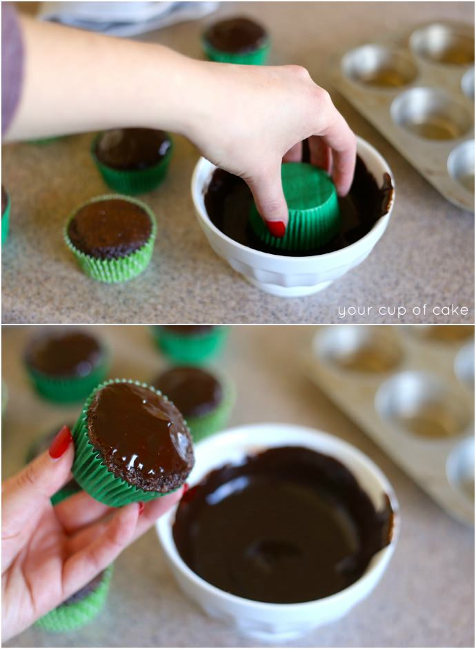 How to ganache cupcakes, so easy and makes your cupcakes a ton better!