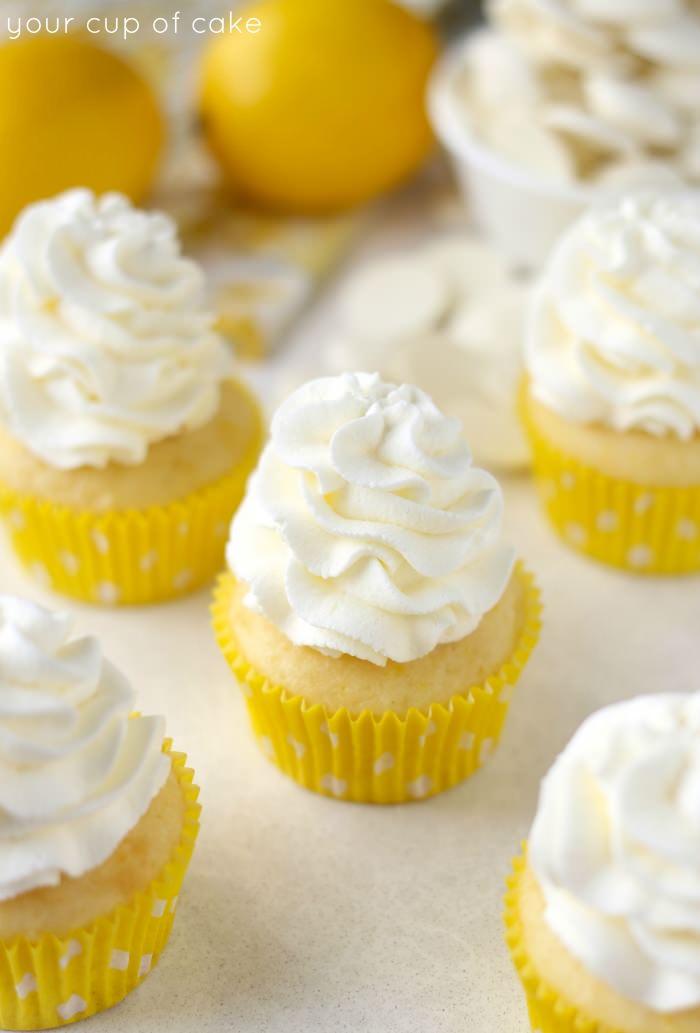 Lemon White Chocolate Cupcake