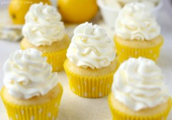 Lemon White Chocolate Cupcakes
