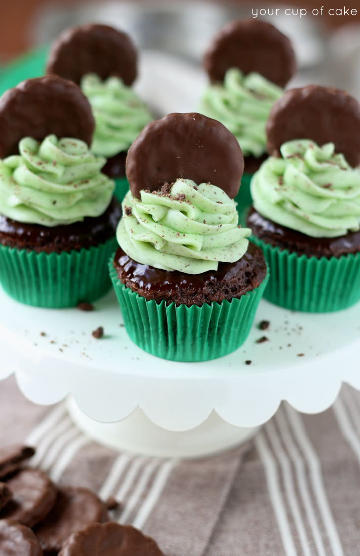 Delicious and easy Thin Mint Cupcakes