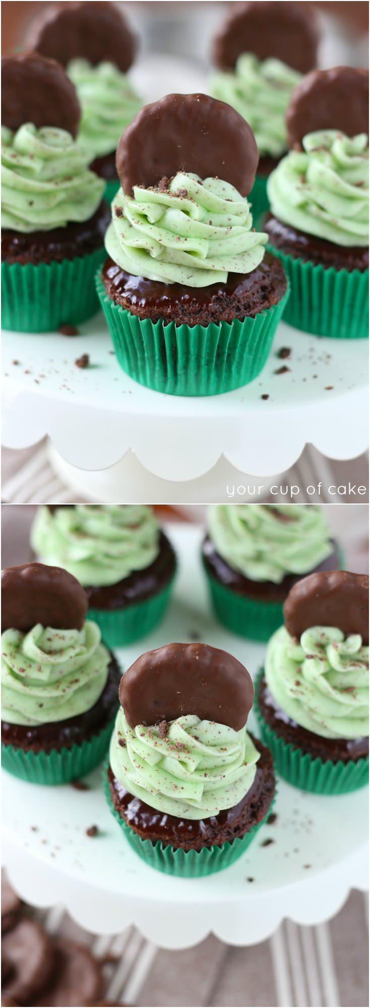 Thin Mint Cupcakes! These are incredibly delicious and SO easy!