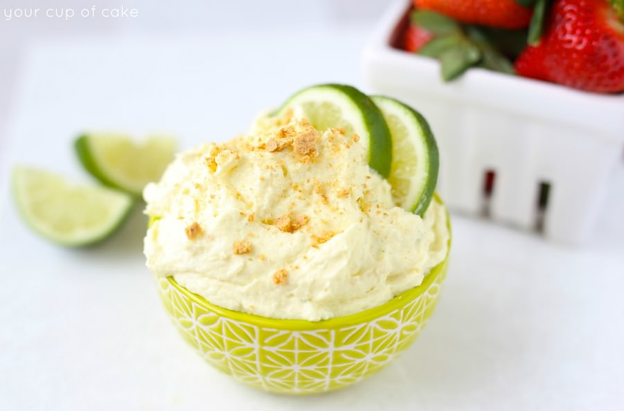 This Key Lime Pie Fruit Dip is crazy easy to make and WOW does it pack a punch of lime flavor!