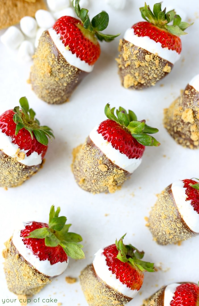 Summer just met it's match, S'MORE STRAWBERRIES!