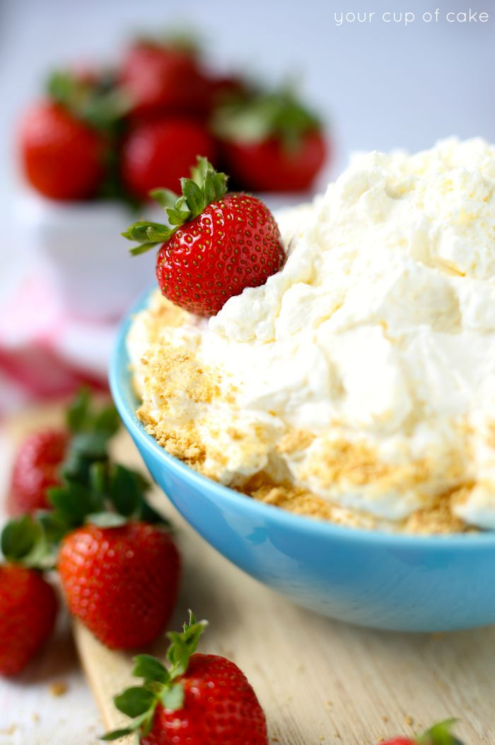 2 Ingredient Cheesecake Fruit Dip, it's so easy to make and tasty! Yum!