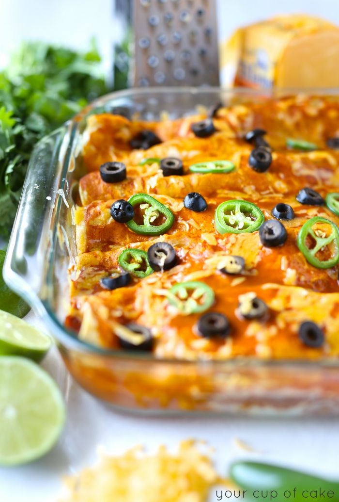 My favorite enchilada recipe, so easy to make and yummy!