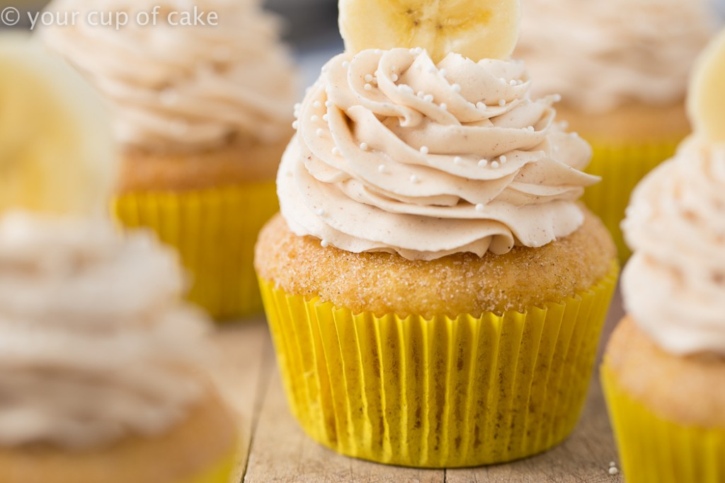 Banana Snickerdoodle Cupcakes, these are so good!