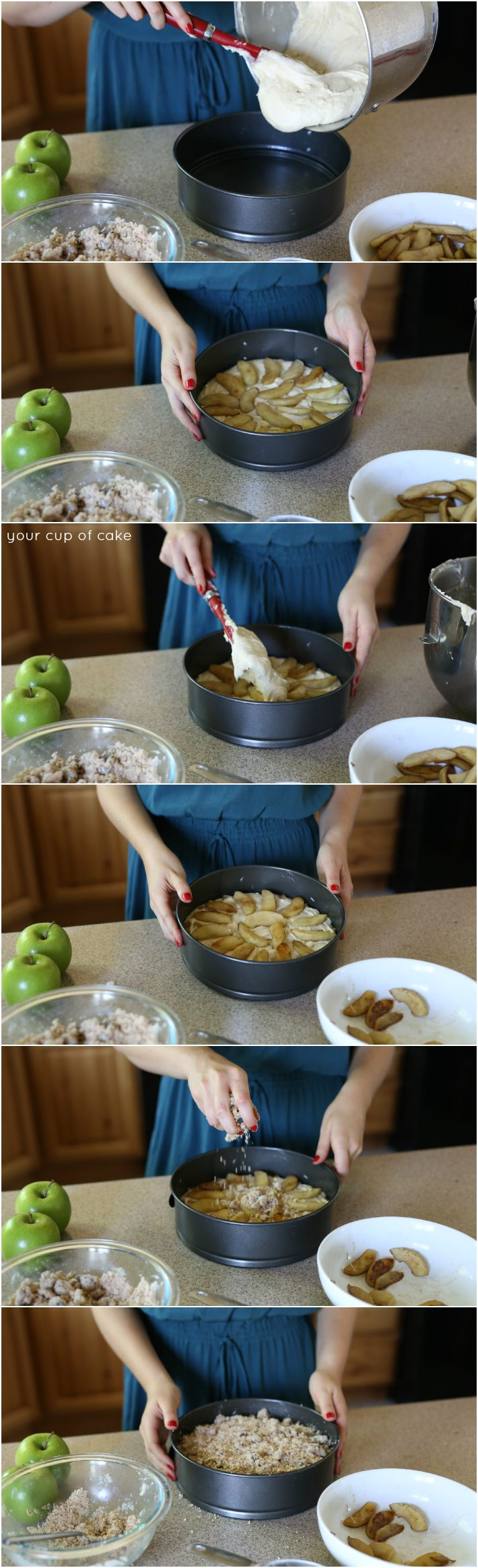 How to make Caramel Apple Coffee Cake for fall, yum!