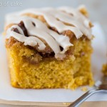 Pumpkin Cinnamon Roll Cake with Maple Glaze