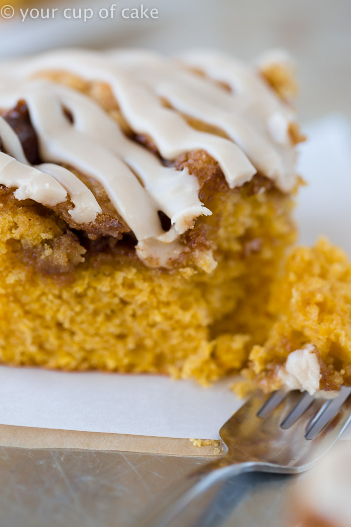 Pumpkin Cinnamon Roll Cake with Maple Glaze - Your Cup of Cake