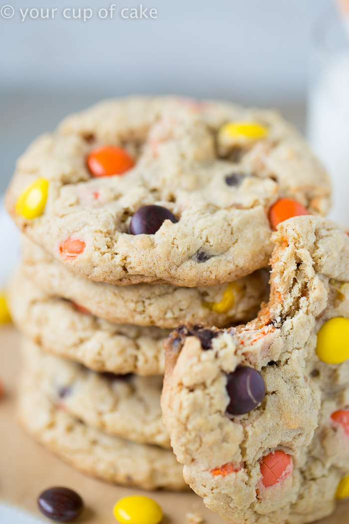 Reese's Pieces Cookies that are chewy so perfect!
