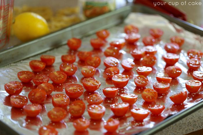 How to roast cherry tomatoes in the oven