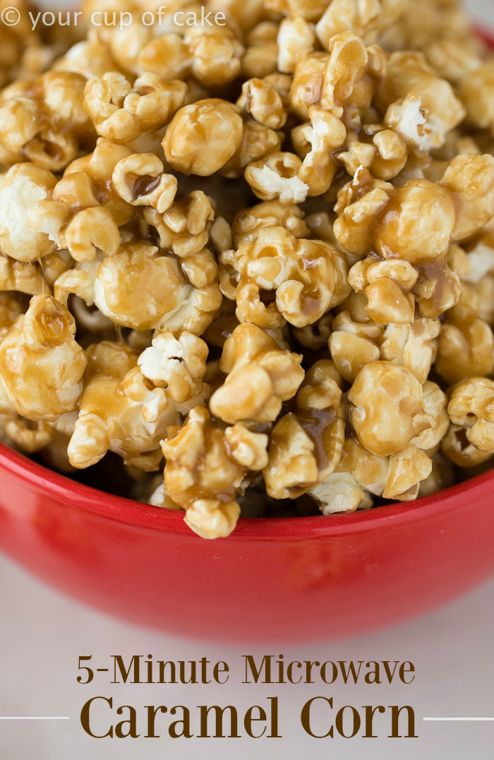 Easy Caramel Corn in the Microwave! It's the soft kind, my favorite!