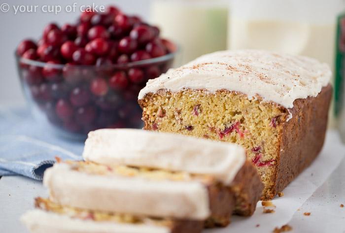 Eggnog Cranberry Bread, this tastes like Christmas!