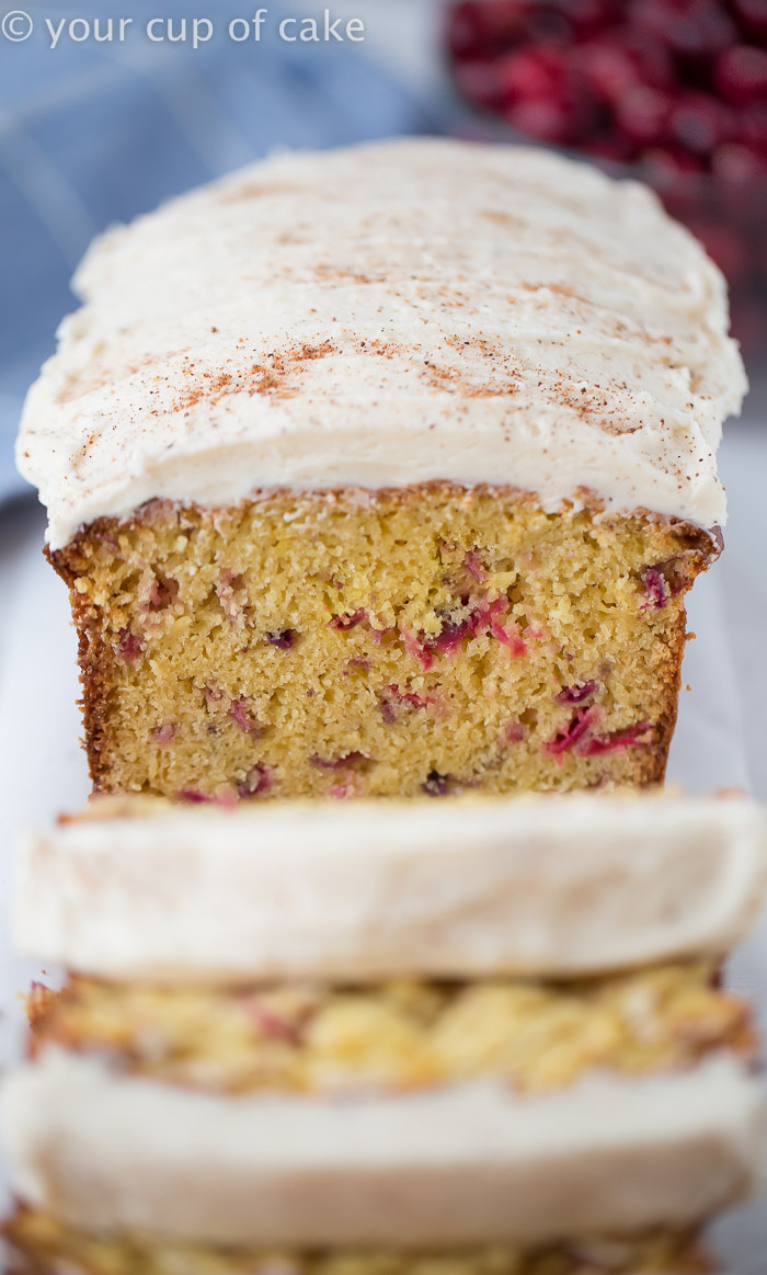 Cranberry Eggnog Bread - Your Cup of Cake