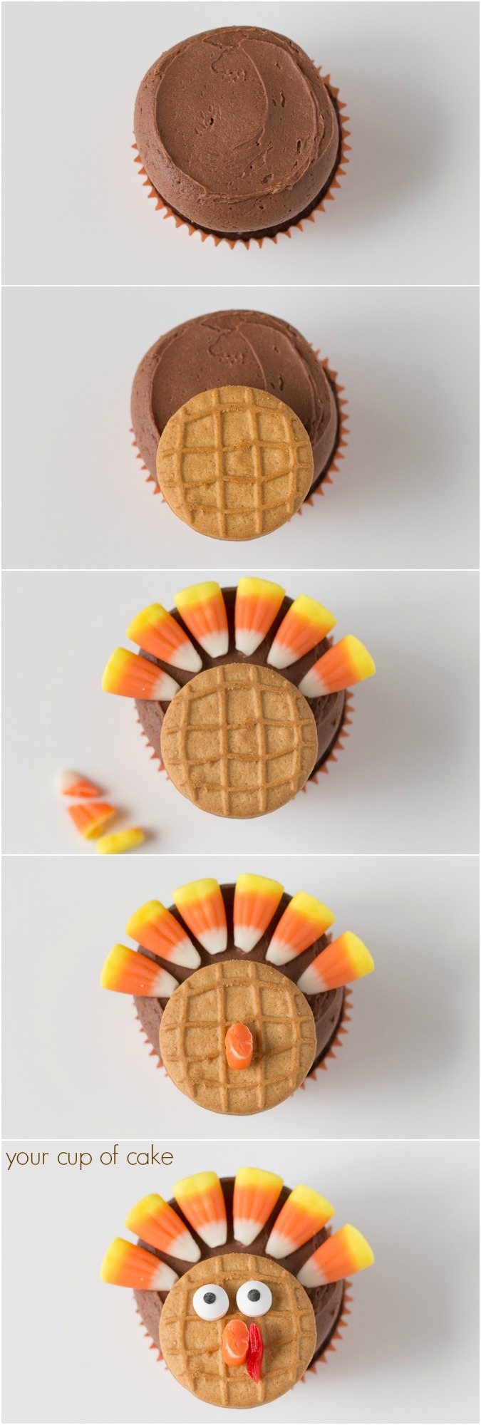 How to make Chocolate Turkey Cupcakes
